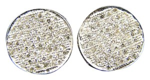 Other MENS/LADIES ROUND PAVE DIAMOND STUD EARRING 12MM 2.0CT