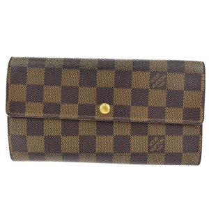 Louis Vuitton Portefeuille Sarah Long Bifold Wallet Damier N61734