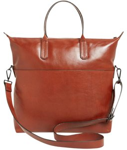 Rebecca Minkoff Crossbody Brown Leather Tote in Cognac