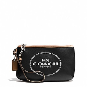 Coach F51788 51788 Medium Leather Wristlet in Black