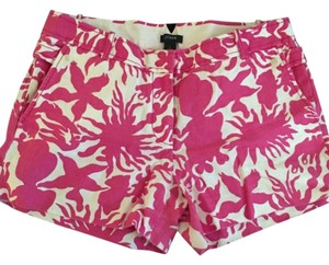 J.Crew Dress Shorts white and pink