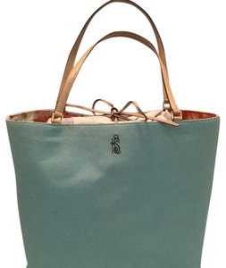 Kate Spade Tote in Turquoise and lite tan leather