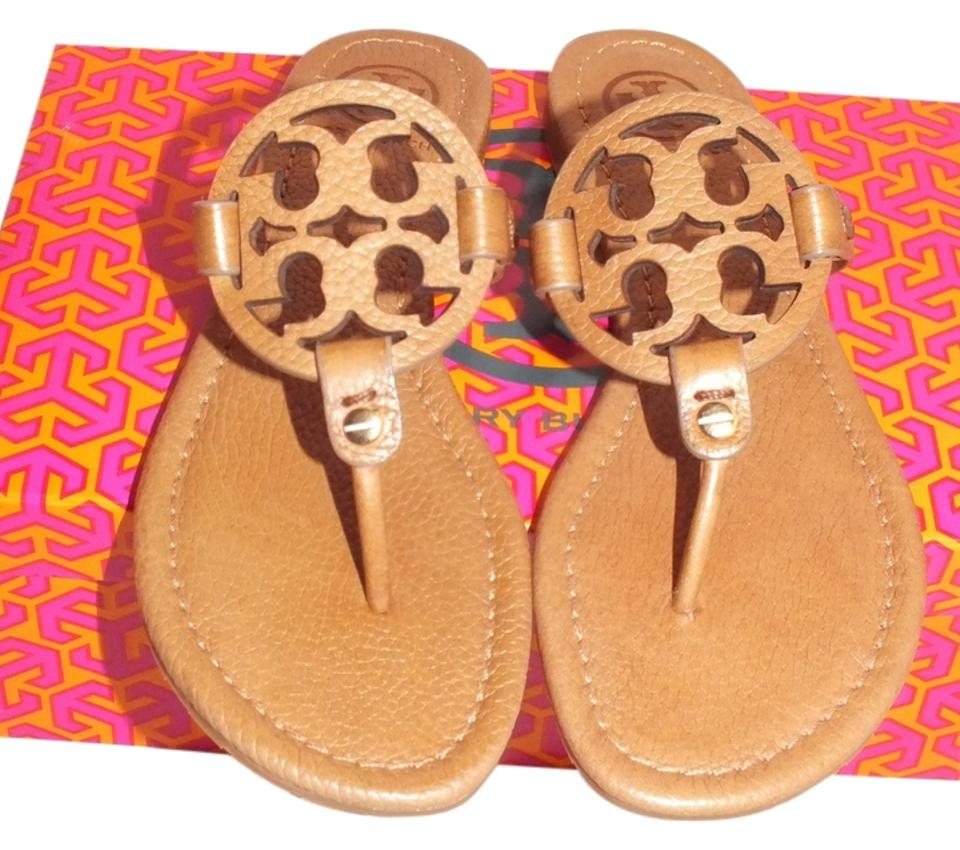 8db368f5e Tory Burch Royal Tan 260 Miller-tumbled Leather Style  51118208 Color royal  Tan 260 Sandals