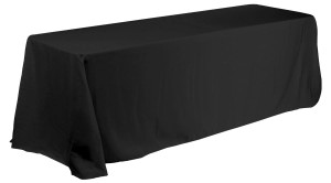 "Black Poly Tablecloth 90x156"" (set Of 4)"