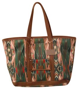 Isabella Fiore Beach Horizon Canvas Tote in Multi-Colored