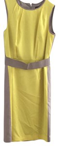Ann Taylor short dress yellow and grey on Tradesy