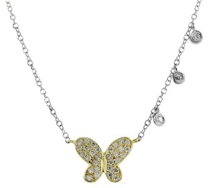 Meira T Meira T 14K Two-Tone Gold Butterfly Diamond Necklace