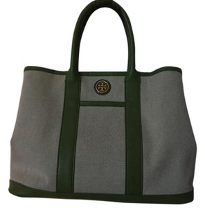 Tory Burch Satchel in cream/green