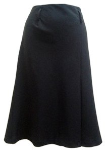 Trina Turk Box Pleat Off Center Skirt Black