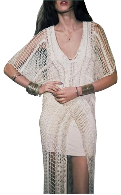 Free People In The Crosshairs Crochet Small Long Casual Maxi Dress Size 6 (S) Free People In The Crosshairs Crochet Small Long Casual Maxi Dress Size 6 (S) Image 1