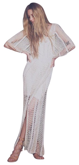 Free People In The Crosshairs Crochet Small Long Casual Maxi Dress Size 6 (S) Free People In The Crosshairs Crochet Small Long Casual Maxi Dress Size 6 (S) Image 2