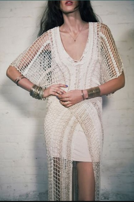 Free People In The Crosshairs Crochet Small Long Casual Maxi Dress Size 6 (S) Free People In The Crosshairs Crochet Small Long Casual Maxi Dress Size 6 (S) Image 12