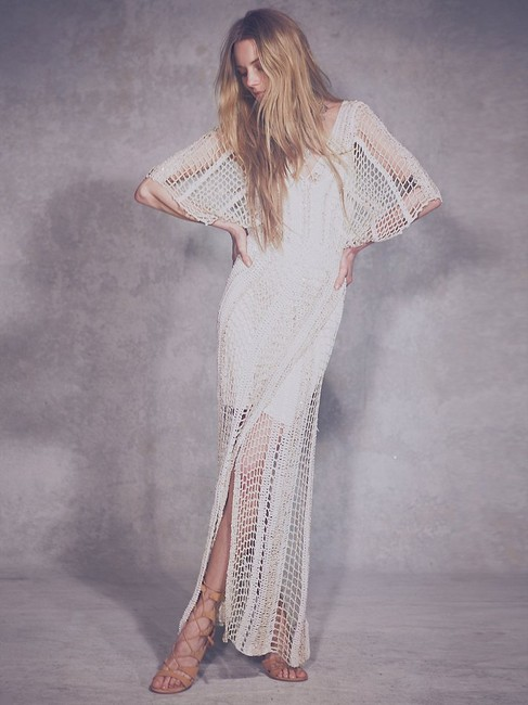 Free People In The Crosshairs Crochet Small Long Casual Maxi Dress Size 6 (S) Free People In The Crosshairs Crochet Small Long Casual Maxi Dress Size 6 (S) Image 4