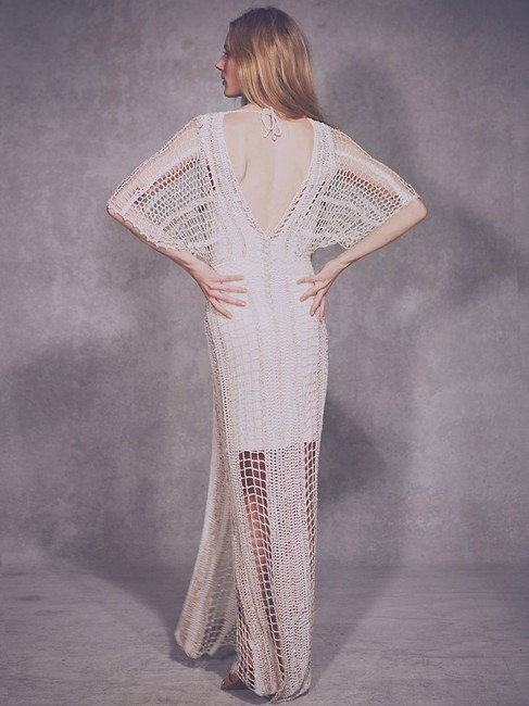 Free People In The Crosshairs Crochet Small Long Casual Maxi Dress Size 6 (S) Free People In The Crosshairs Crochet Small Long Casual Maxi Dress Size 6 (S) Image 6