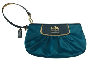 Coach royal blue/gold Clutch