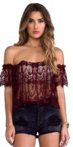 Stone Cold Fox Top Blood Red