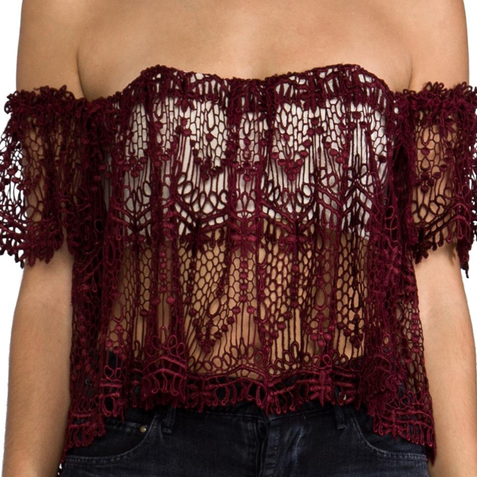 cbd2de01ab8 Stone Cold Fox Moroccan Lace Holy Tube Blood Red Top - Tradesy