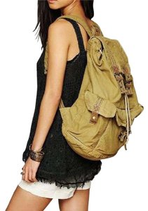 Free People Carryall Luggage Rugged Unisex Book Tote Leather Canvas O'hara Backpack