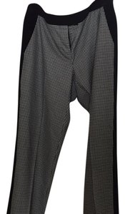 Vince Camuto Straight Pants black and white houndstooth