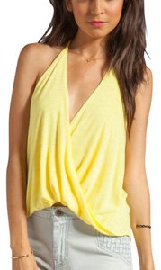 Blue Life yellow Halter Top