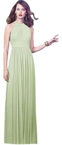 Dessy Long Open Back Bridesmaid Dress
