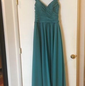 Allure Bridals Teal (Oasis) Chiffon 1374 Feminine Bridesmaid/Mob Dress Size 12 (L)