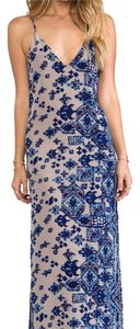 blue/patterned Maxi Dress by Rory Beca