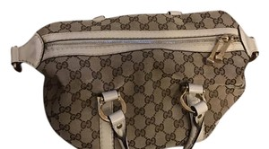 Gucci Tote in Brown with white leather accent