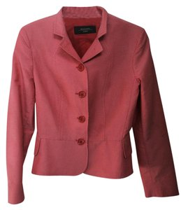 Max Mara Like New Coral/white Coral/Red with with dots Blazer