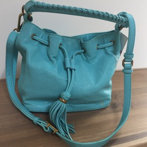 Elliott Lucca Satchel in teal
