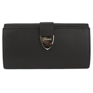 Gucci GUCCI 231837 Leather Buckle Continental Wallet