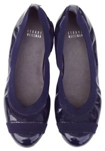 Stuart Weitzman Flexible Blue Flats