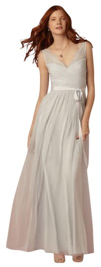 BHLDN Powder Blue Tulle Lace Fleur In Feminine Bridesmaid/Mob Dress Size 8 (M) Image 0
