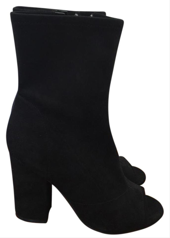 Guess Black Boots/Booties New Open Toe Suede Boots/Booties Black 47a86e