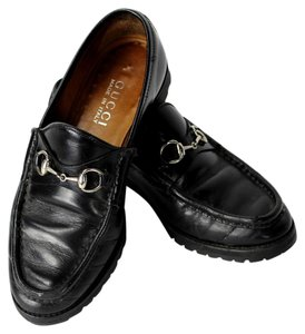 Gucci Leather Horsebit Loafers Black Formal