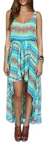 Green Maxi Dress by Show Me Your Mumu Hi-low Swing Tunic Mary Mullet Maxi Pinata Party