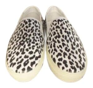 Saint Laurent Ysl Animal Print Leopard White Black Athletic