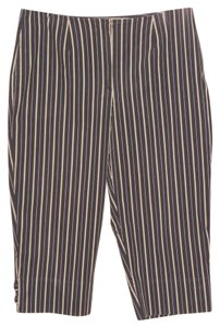 Liz Claiborne Golf Capris Blue and Gray Striped