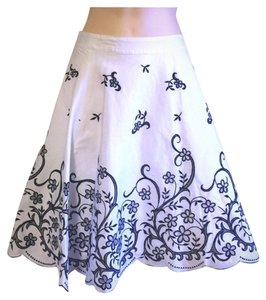 Elevenses Anthropologie White Black Round 2 Skirt