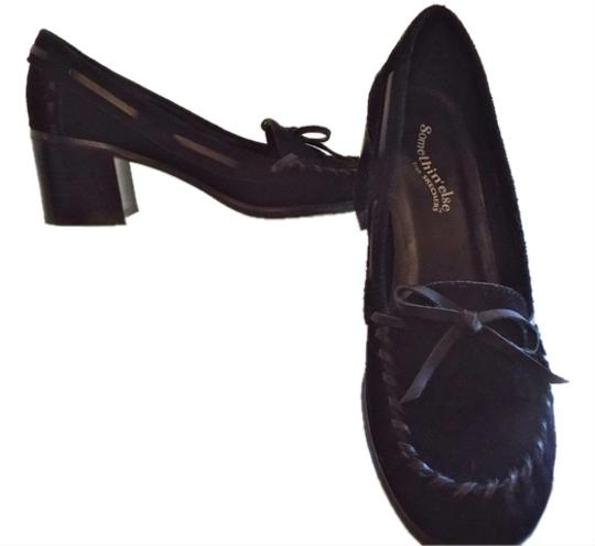 Skechers Faux Leather Loafer Casual Black Pumps