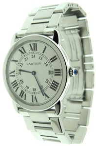 Cartier Cartier Rondo Solo Stainless Steel 36mm 3603 Silver Watch & Box