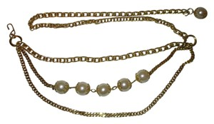 Other Faux pearl chain belt