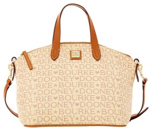 Dooney & Bourke Large & Leather Signature Satchel in LAVENDER