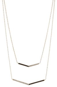 Vince Camuto Vince Camuto Gold-Tone and Hematite Double Layered Necklace