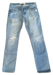 Abercrombie & Fitch & Size 10 Straight Leg Jeans-Light Wash