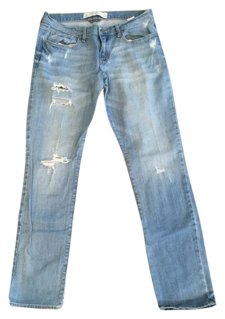 Item - Blue Light Wash Womans New York 10r Perfect Stretch Straight Leg Jeans Size 30 (6, M)
