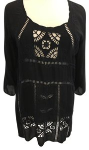 Johnny Was Cut-out Embroidery Tunic