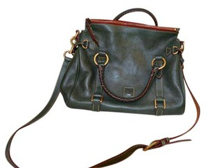 Dooney & Bourke Leather Satchel in Green