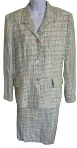 Le Suit Le Suit Mint Green Tweed Skirt Suit SZ 16