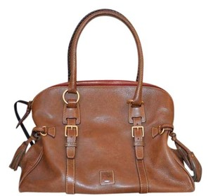 Dooney & Bourke Leather Satchel in taupe